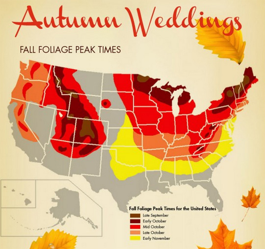 Tips trends rustic weddings Places to have a fall wedding