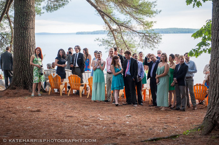 Sebago lake wedding