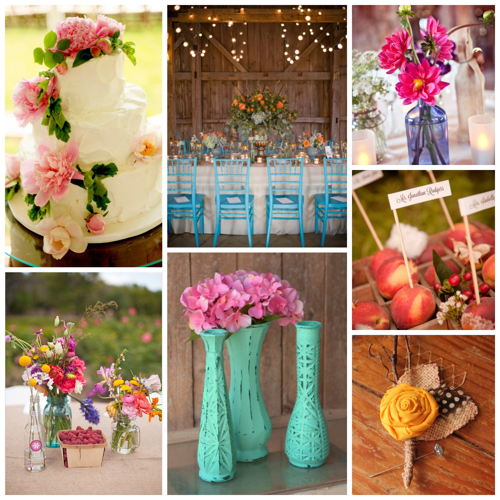 Rustic Wedding Color Ideas: Rustic Inspiration: Summer Color