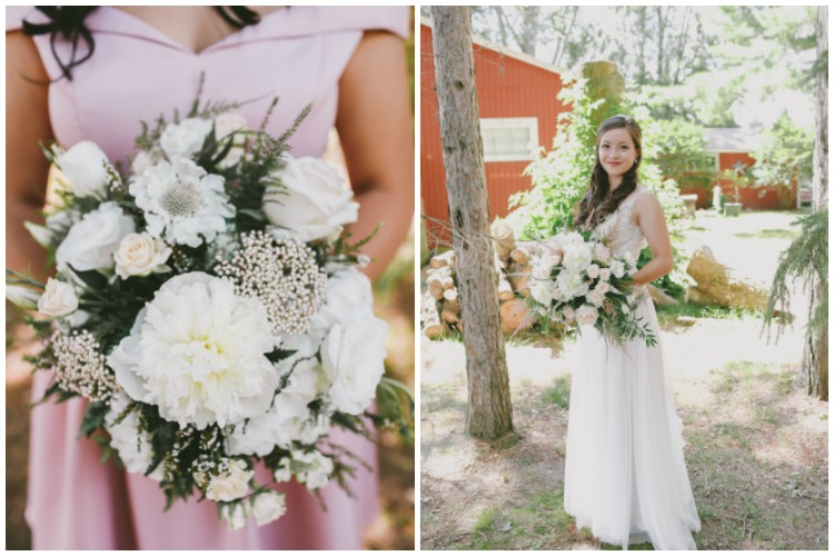 Emely & Marshall's Wisconsin Lake Wedding - Rustic Weddings