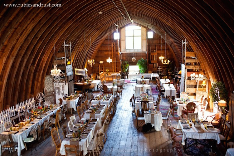 Rubies Rust Barn Ready For The Reception